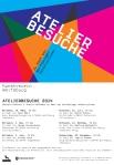 Einladungskarte Ateliergespräche 2014
