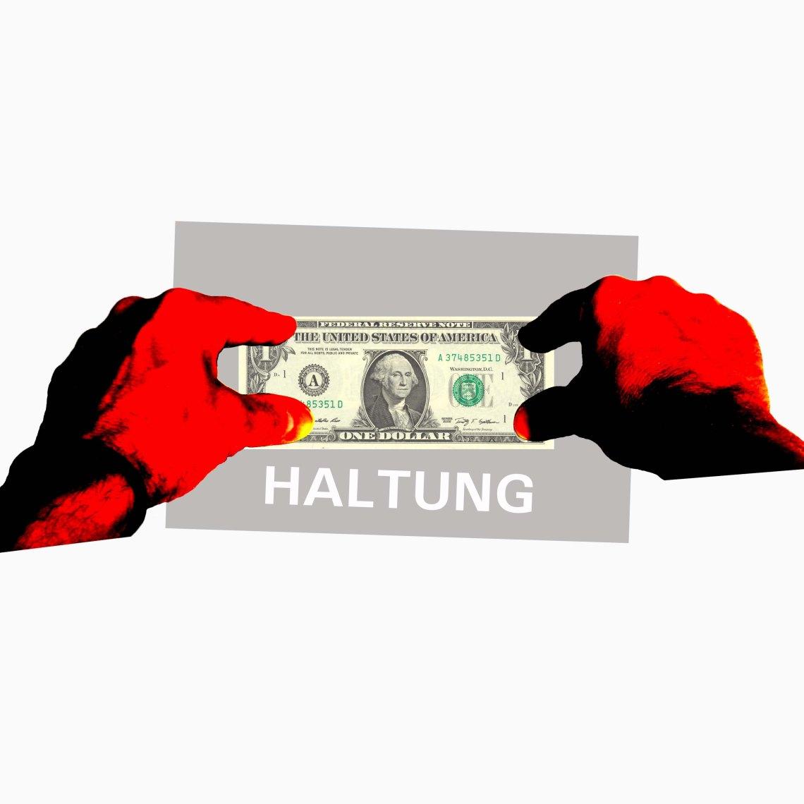 Dollar Haltung